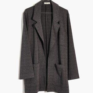 Madewell Oversized Knit Blazer Glen Plaid Size XL